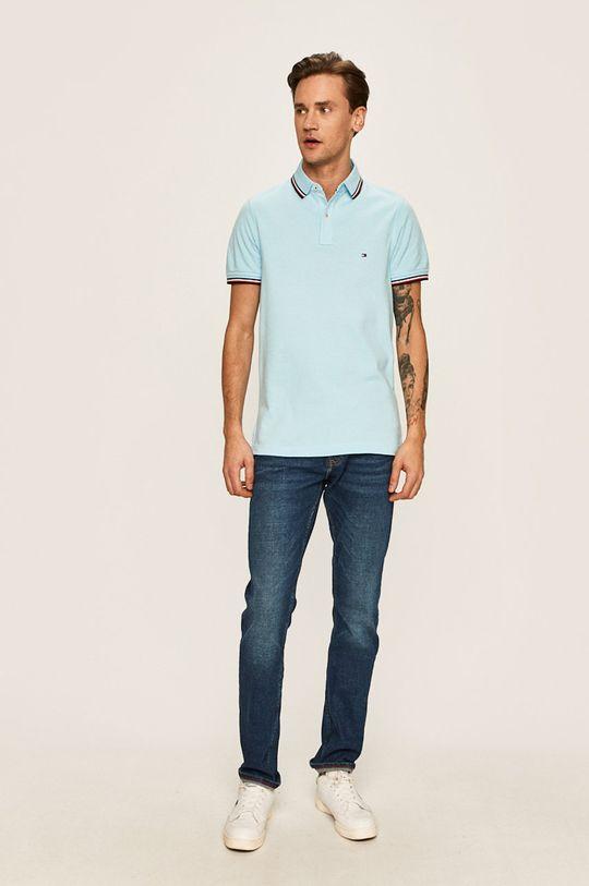 Tommy Hilfiger - Polo jasny niebieski