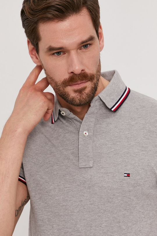 šedá Tommy Hilfiger - Polo tričko