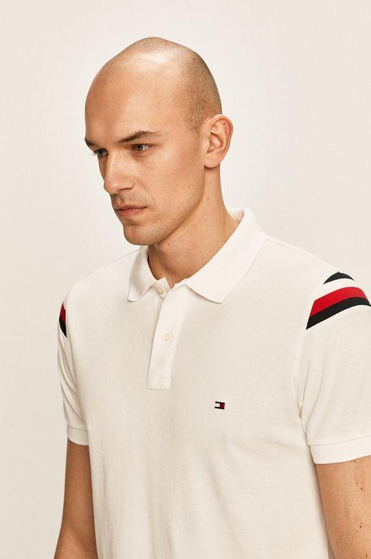 бял Tommy Hilfiger - Тениска с яка Чоловічий