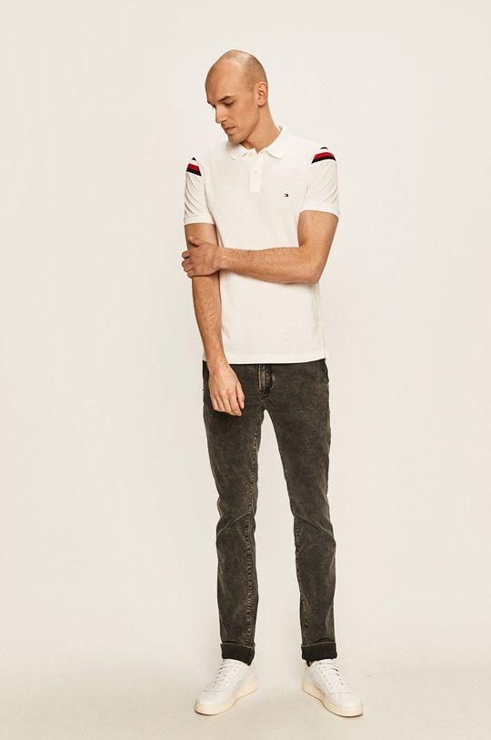 Tommy Hilfiger - Тениска с яка бял