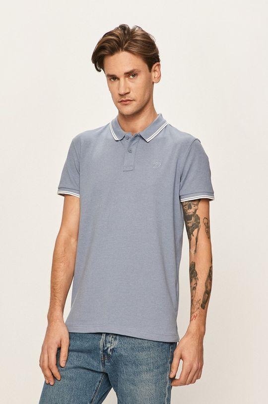 albastru metalizat Tom Tailor Denim - Tricou Polo De bărbați