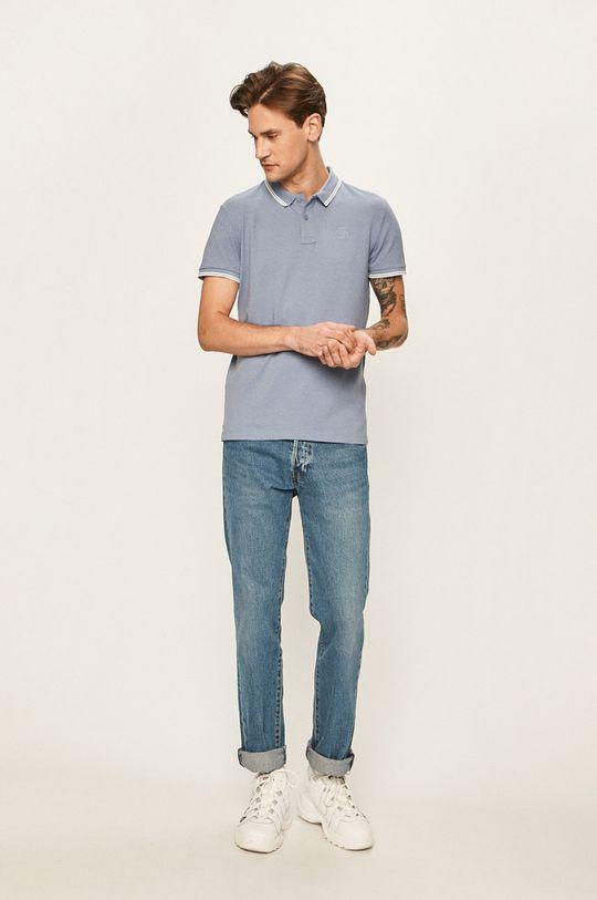 Tom Tailor Denim - Pánske polo tričko oceľová modrá