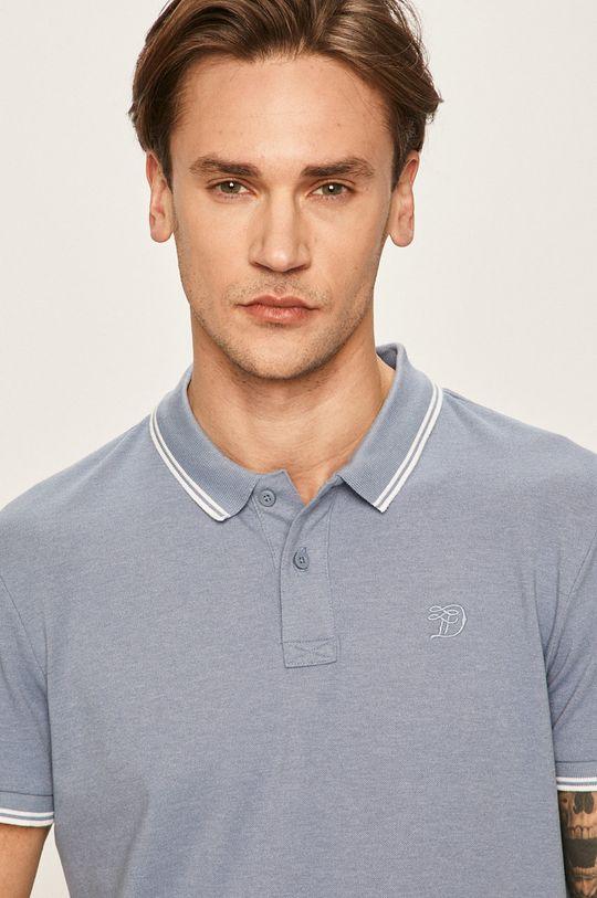 oceľová modrá Tom Tailor Denim - Pánske polo tričko