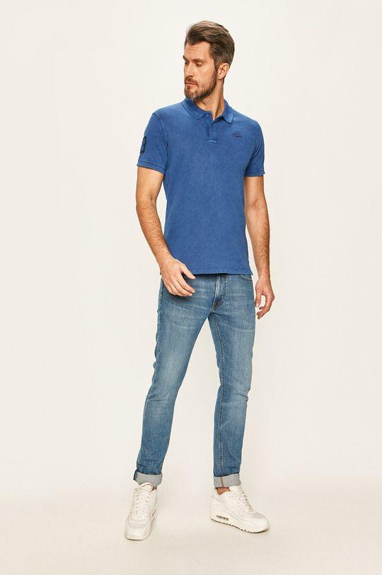 Blend - Тениска с яка син