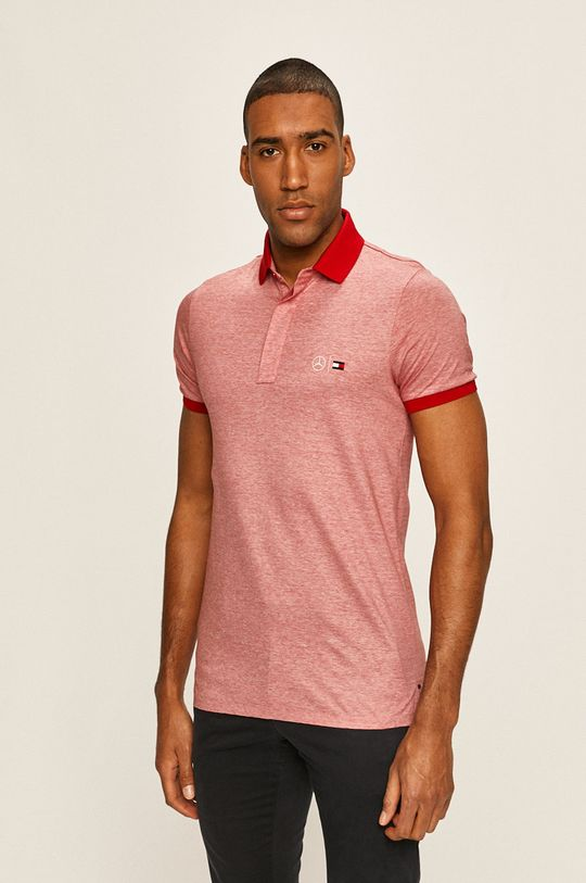 rosu Tommy Hilfiger Tailored - Tricou Polo x Mercedes De bărbați