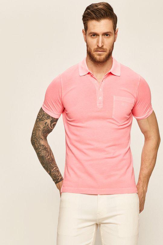 pastelově růžová Diesel - Polo tričko Pánský
