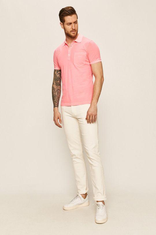 Diesel - Polo tričko pastelově růžová
