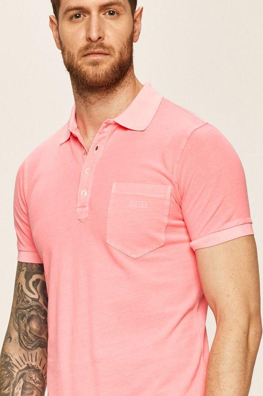 pastelově růžová Diesel - Polo tričko