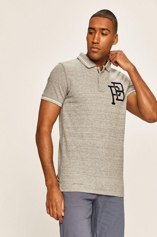 světle šedá Premium by Jack&Jones - Polo tričko Pánský