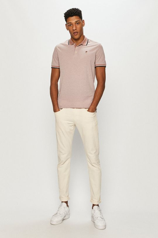 Premium by Jack&Jones - Polo pastelowy różowy