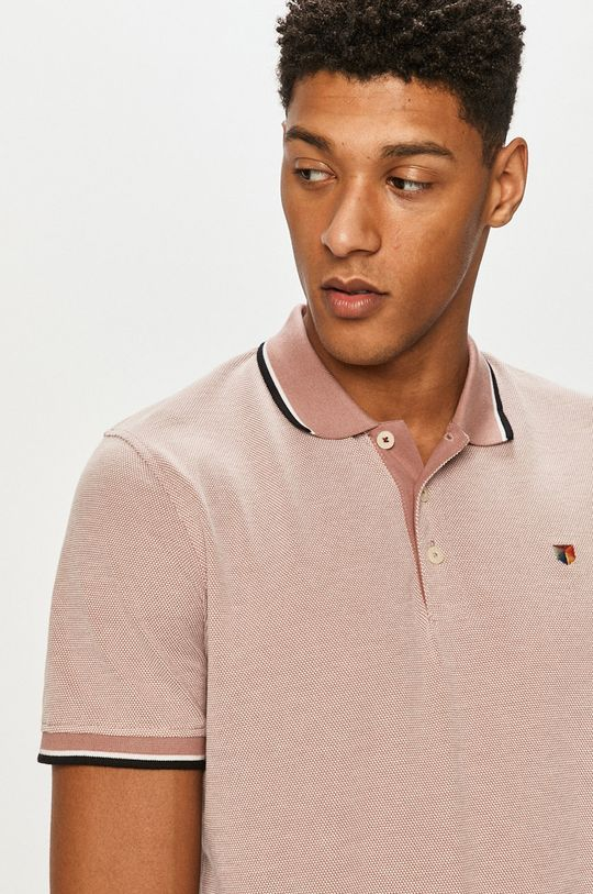 pastelowy różowy Premium by Jack&Jones - Polo
