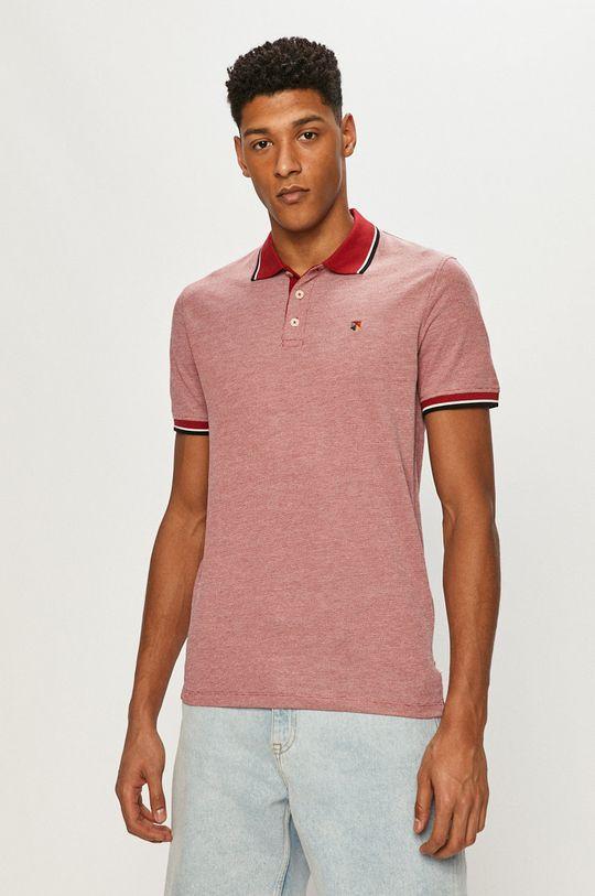 červená Premium by Jack&Jones - Polo tričko Pánský