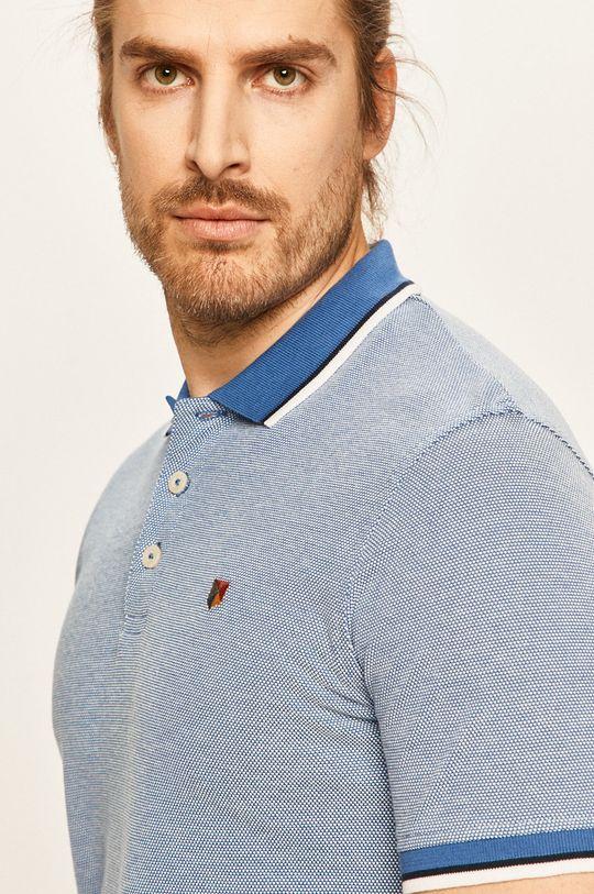 modrá Premium by Jack&Jones - Polo tričko