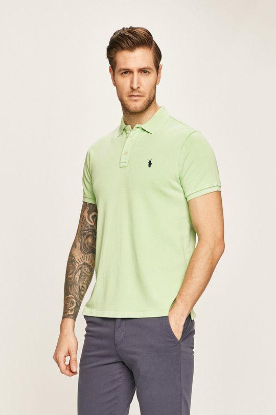 žlutě zelená Polo Ralph Lauren - Polo tričko Pánský