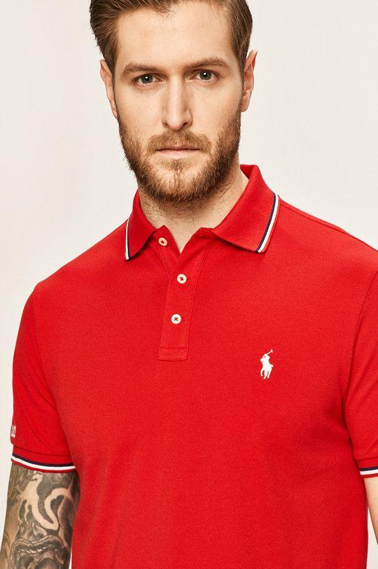 červená Polo Ralph Lauren - Pánske polo tričko Pánsky