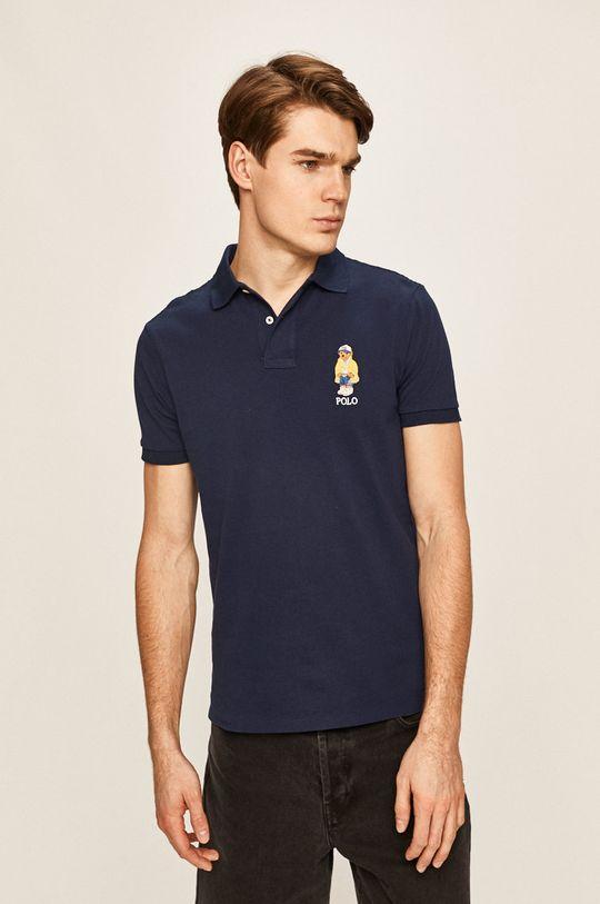 tmavomodrá Polo Ralph Lauren - Pánske polo tričko Pánsky