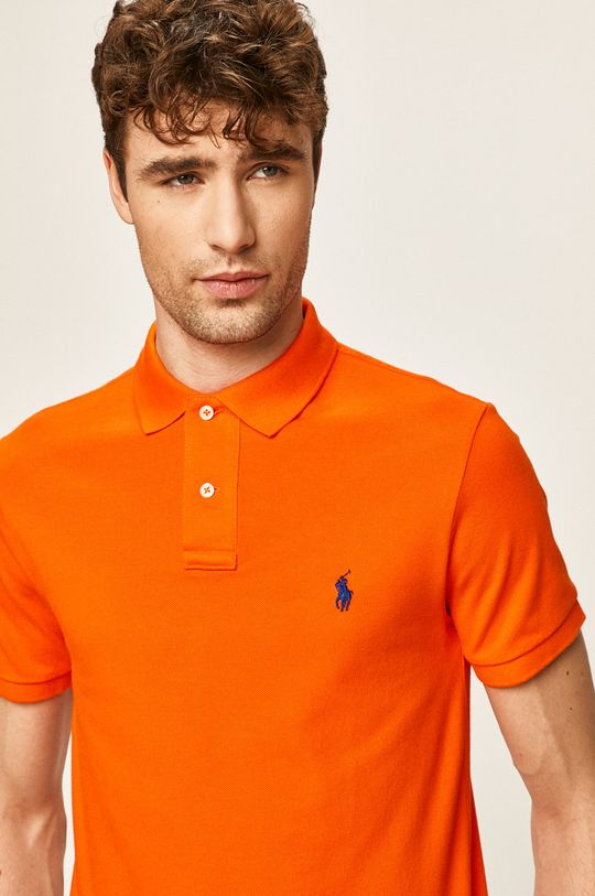 oranžová Polo Ralph Lauren - Polo tričko Pánský
