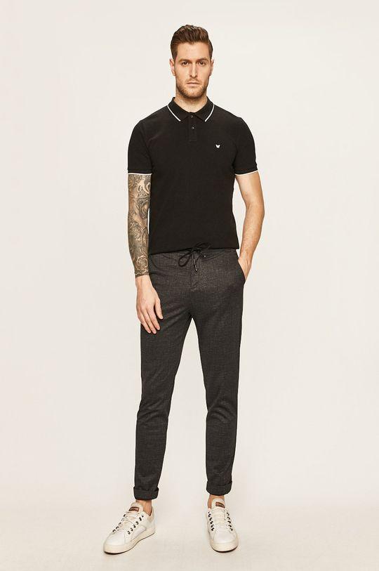 Wrangler - Tricou Polo negru