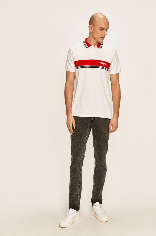 Wrangler - Тениска с яка бял