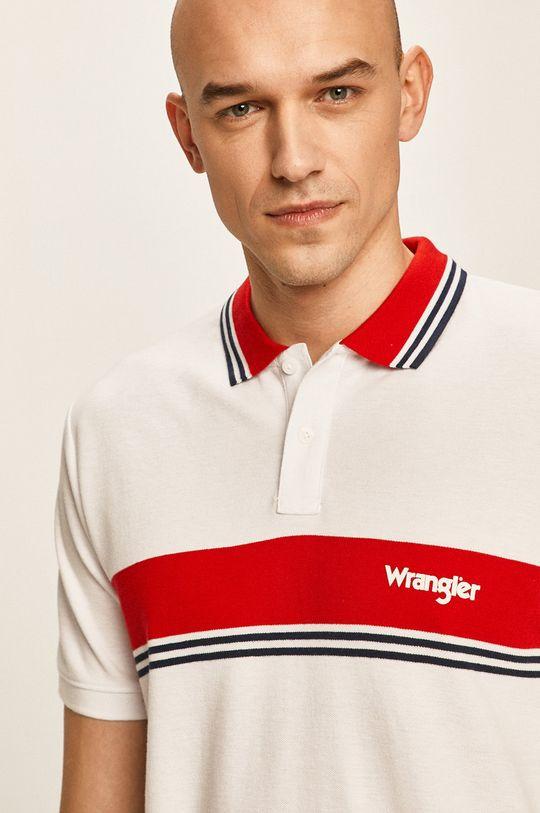 бял Wrangler - Тениска с яка