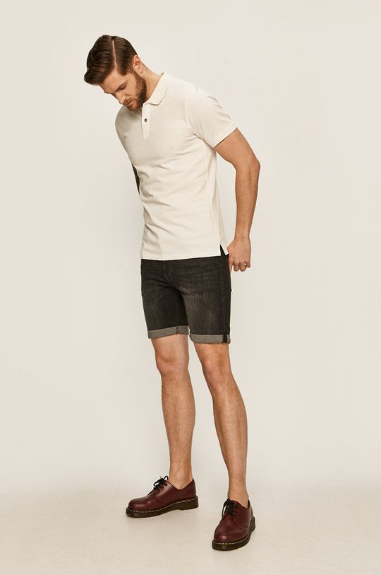 Jack & Jones - Tricou Polo alb