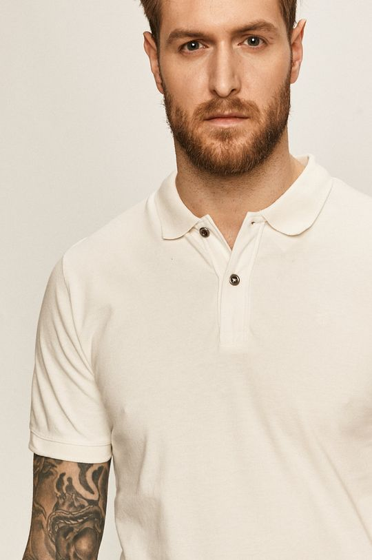 alb Jack & Jones - Tricou Polo