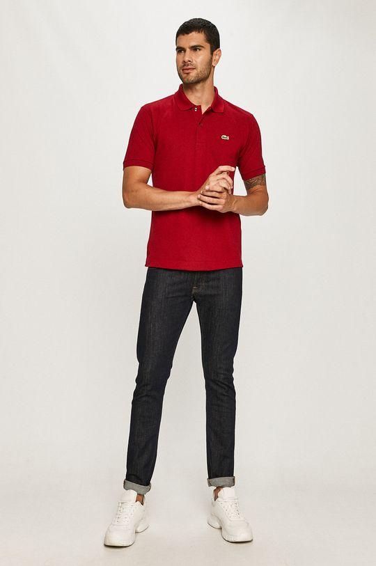Lacoste - Polo tričko gaštanová