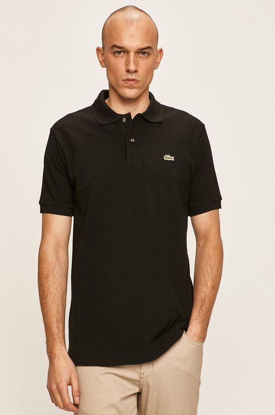 čierna Lacoste - Polo tričko Pánsky