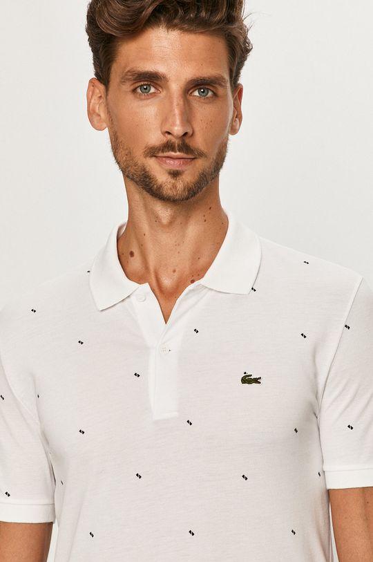 biela Lacoste - Polo tričko Pánsky
