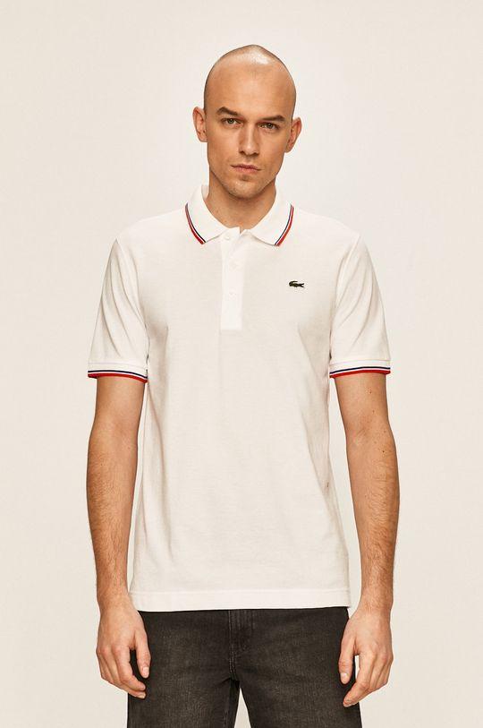 biela Lacoste - Pánske polo tričko