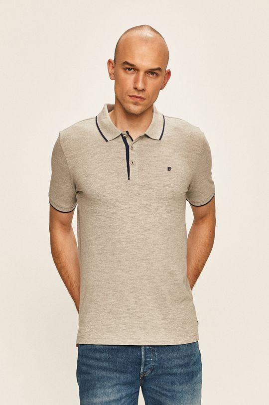 světle šedá Pierre Cardin - Polo tričko Pánský