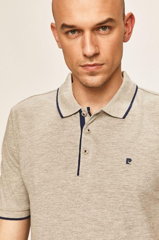 světle šedá Pierre Cardin - Polo tričko