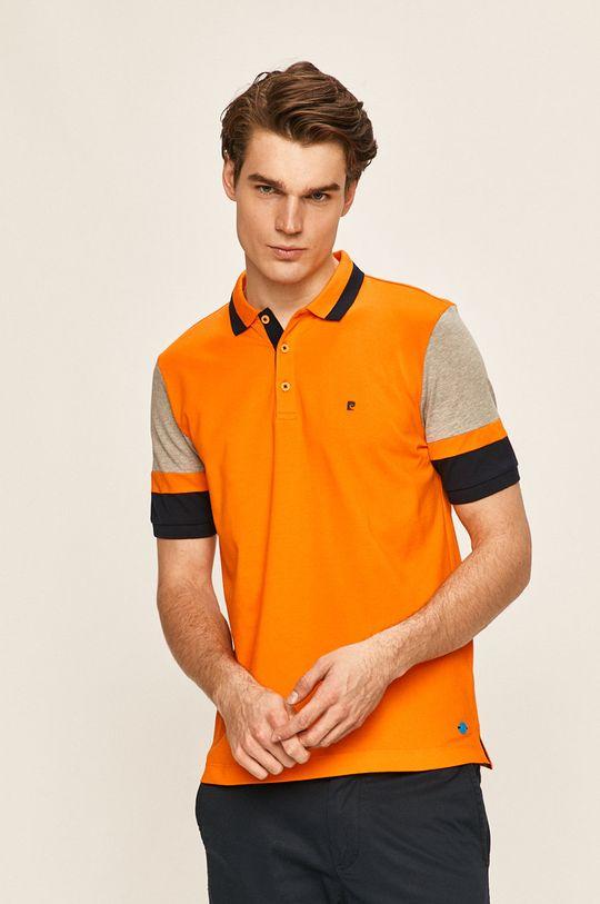 oranžová Pierre Cardin - Polo tričko Pánský