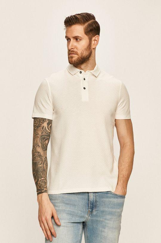 alb Strellson - Tricou Polo De bărbați