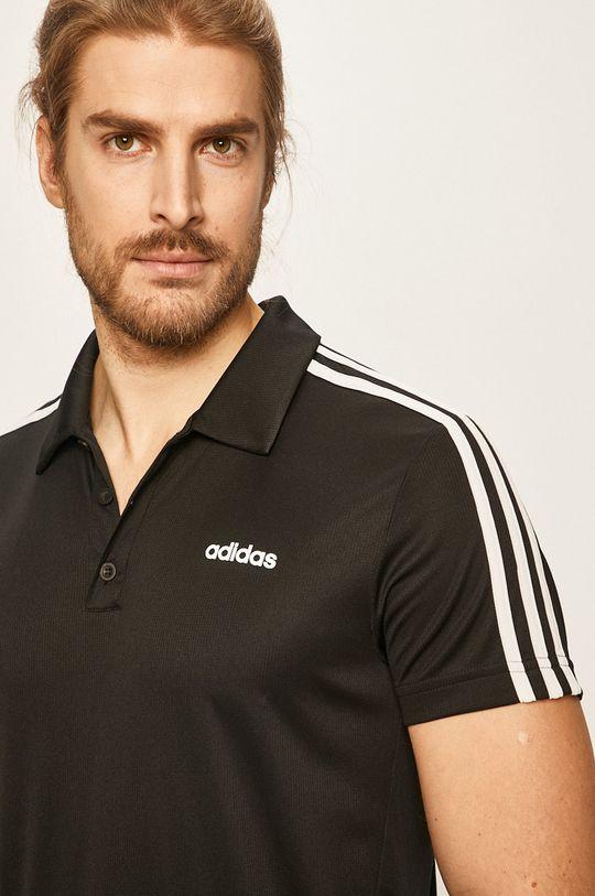 negru adidas - Tricou Polo De bărbați