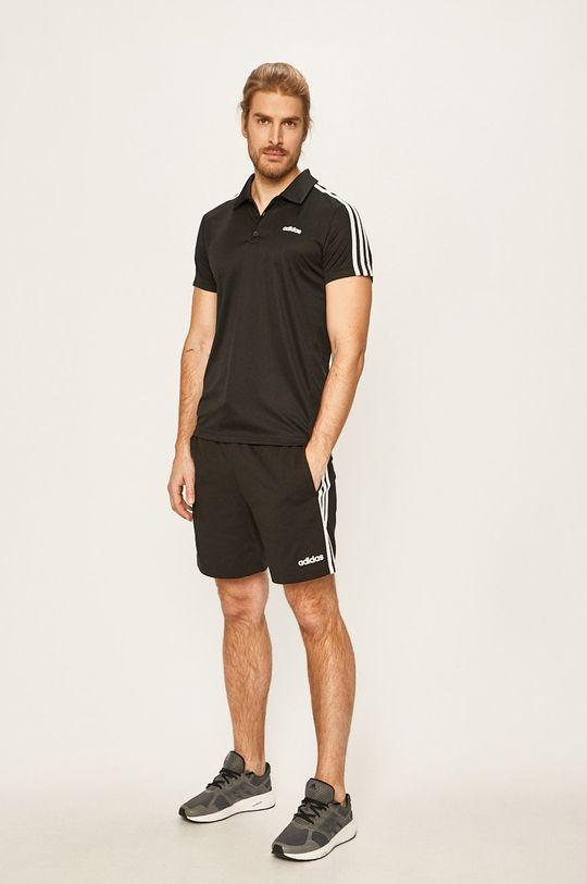 adidas - Tricou Polo negru