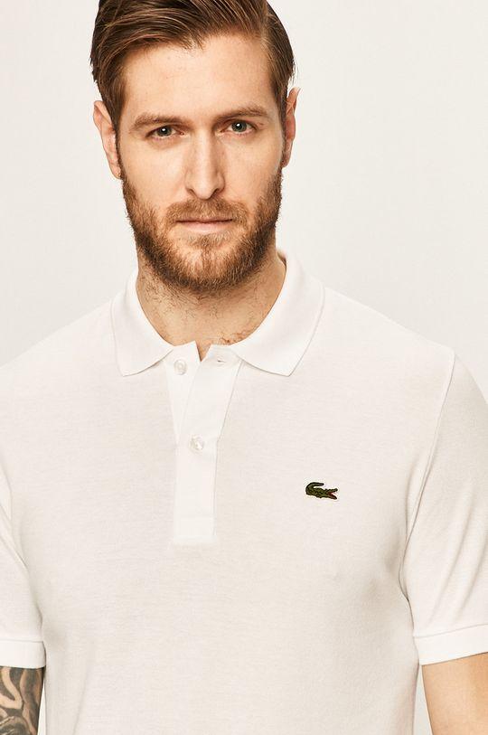 alb Lacoste - Tricou Polo De bărbați
