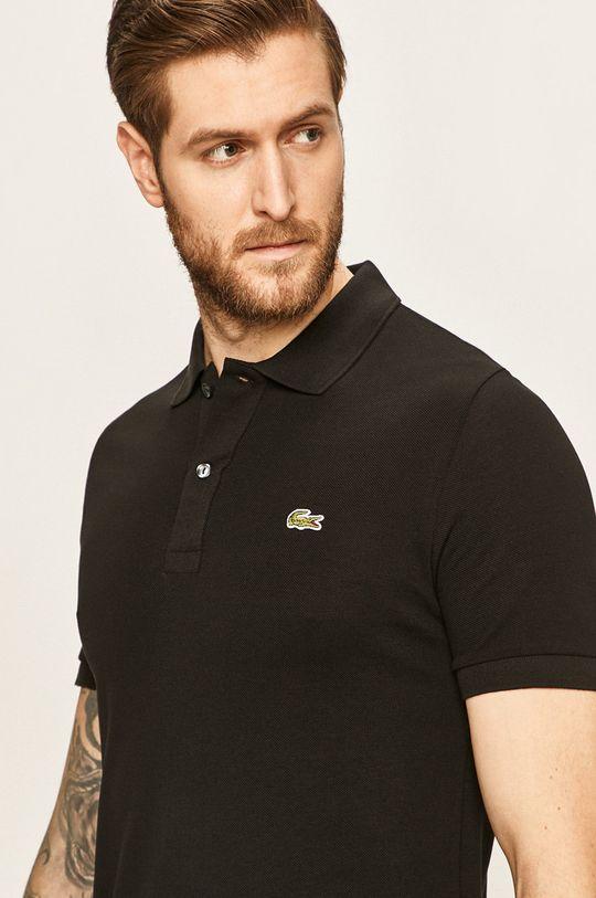 čierna Lacoste - Pánske polo tričko Pánsky