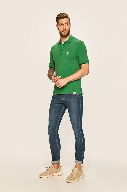 Guess Jeans - Polo tričko zelená