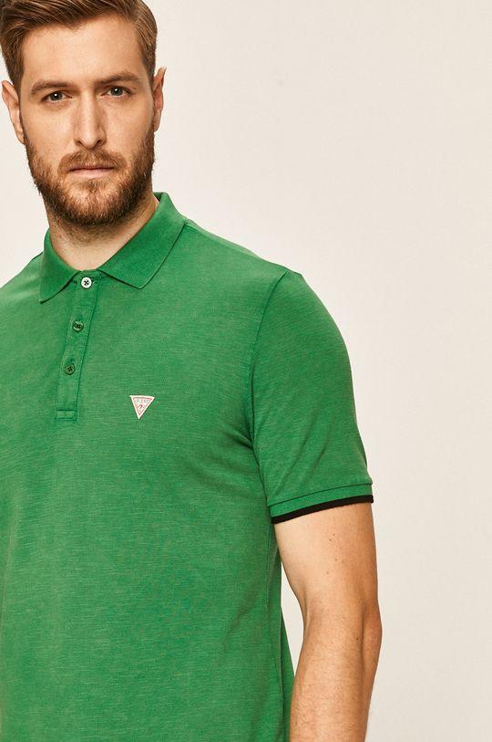 zelená Guess Jeans - Polo tričko