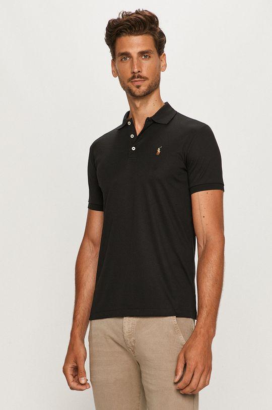 čierna Polo Ralph Lauren - Polo tričko Pánsky