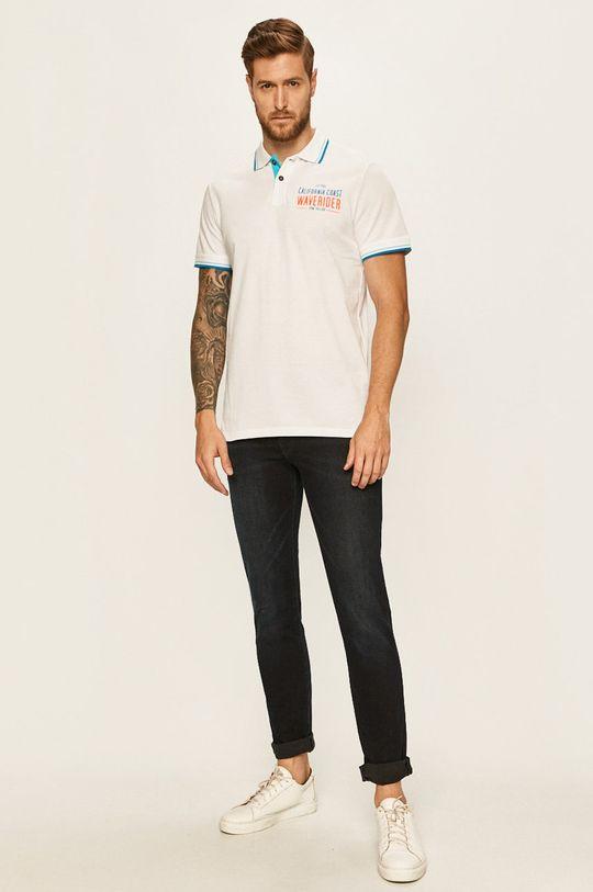 Tom Tailor Denim - Polo tričko bílá