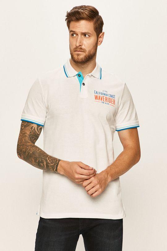 bílá Tom Tailor Denim - Polo tričko