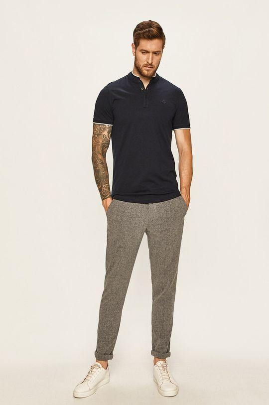Tom Tailor Denim - Polo tričko námořnická modř