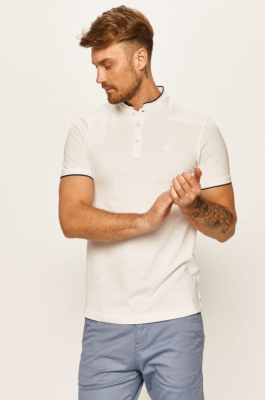 bílá Tom Tailor Denim - Polo tričko Pánský