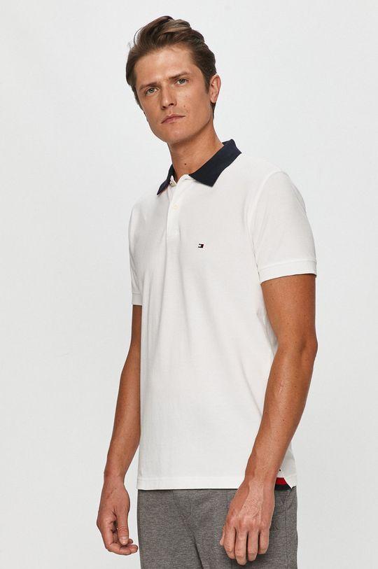alb Tommy Hilfiger - Tricou Polo De bărbați