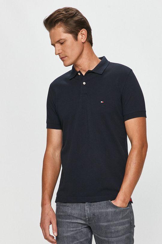 tmavomodrá Tommy Hilfiger - Polo tričko Pánsky