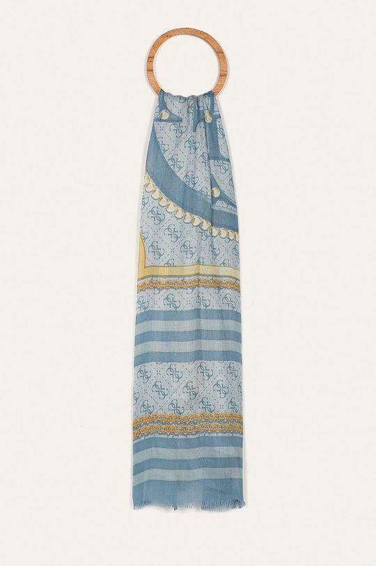 светлосин Guess Jeans - Тънък шал Жіночий