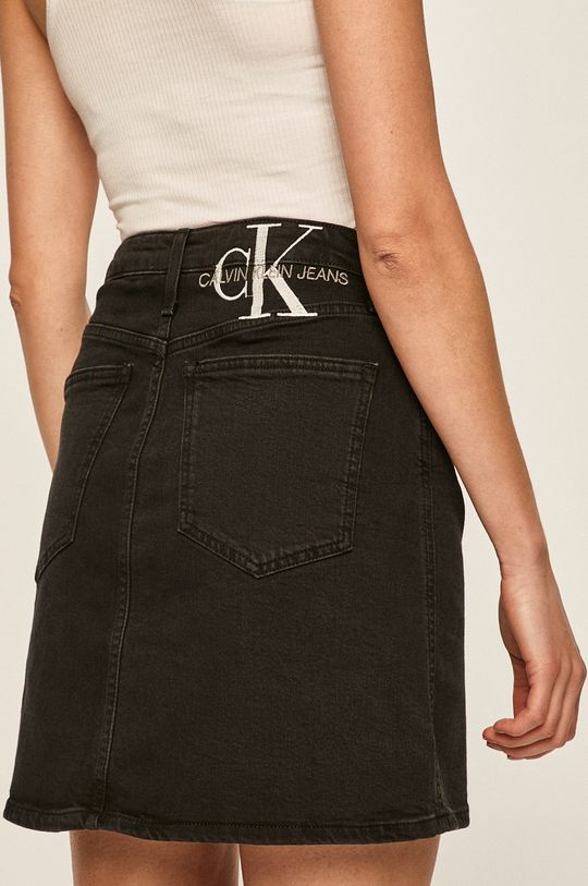 Calvin Klein Jeans - Sukně  94% Bavlna, 1% Elastan, 5% Polyester