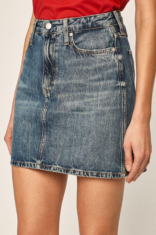 modrá Calvin Klein Jeans - Džínová sukně Dámský